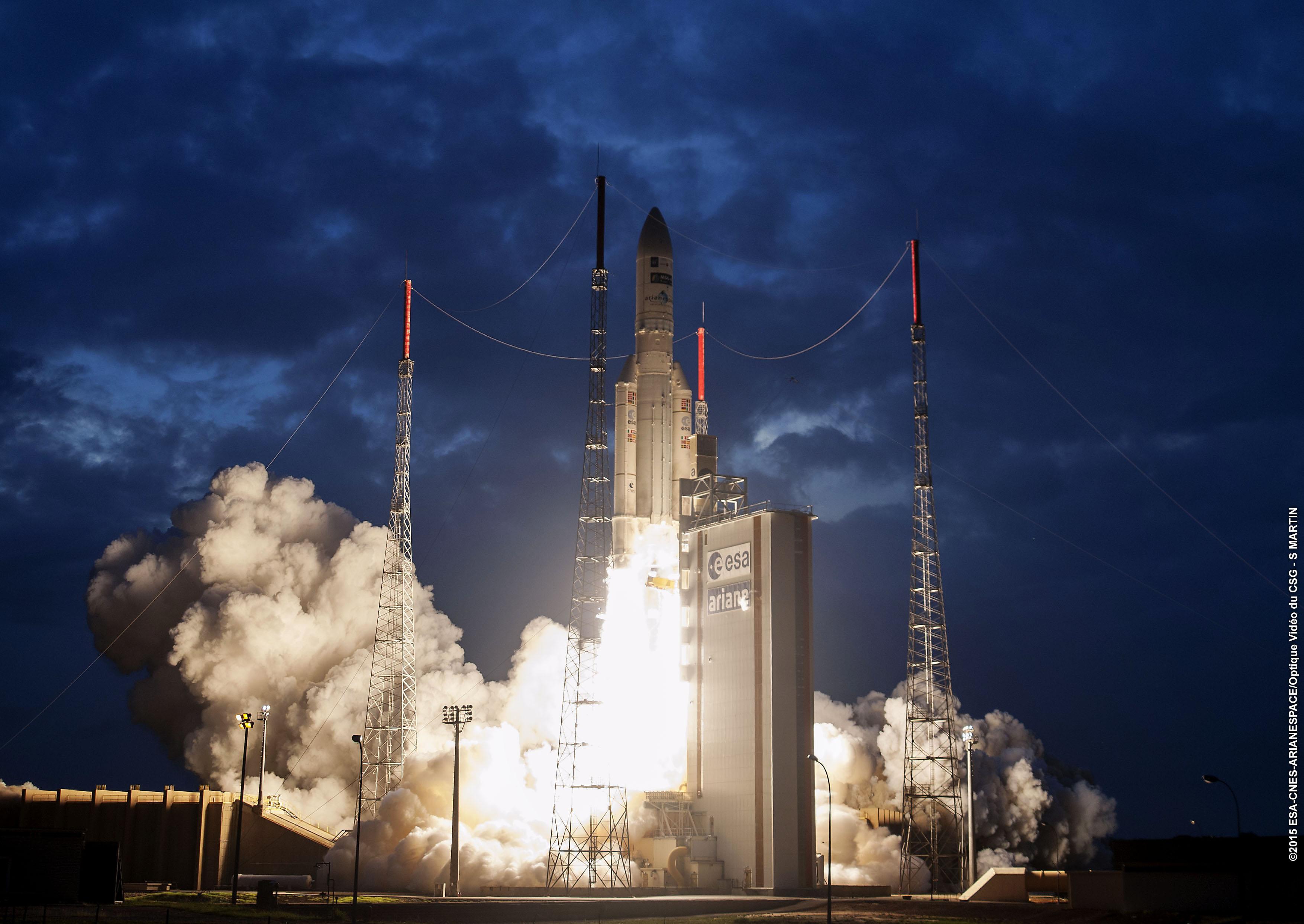 MSG-4 - Meteosat - Eumetsat - Lancement - 5 juillet 2015 - Ariane 5 ECA VA224 - Arianespace - ESA - CNES - CSG