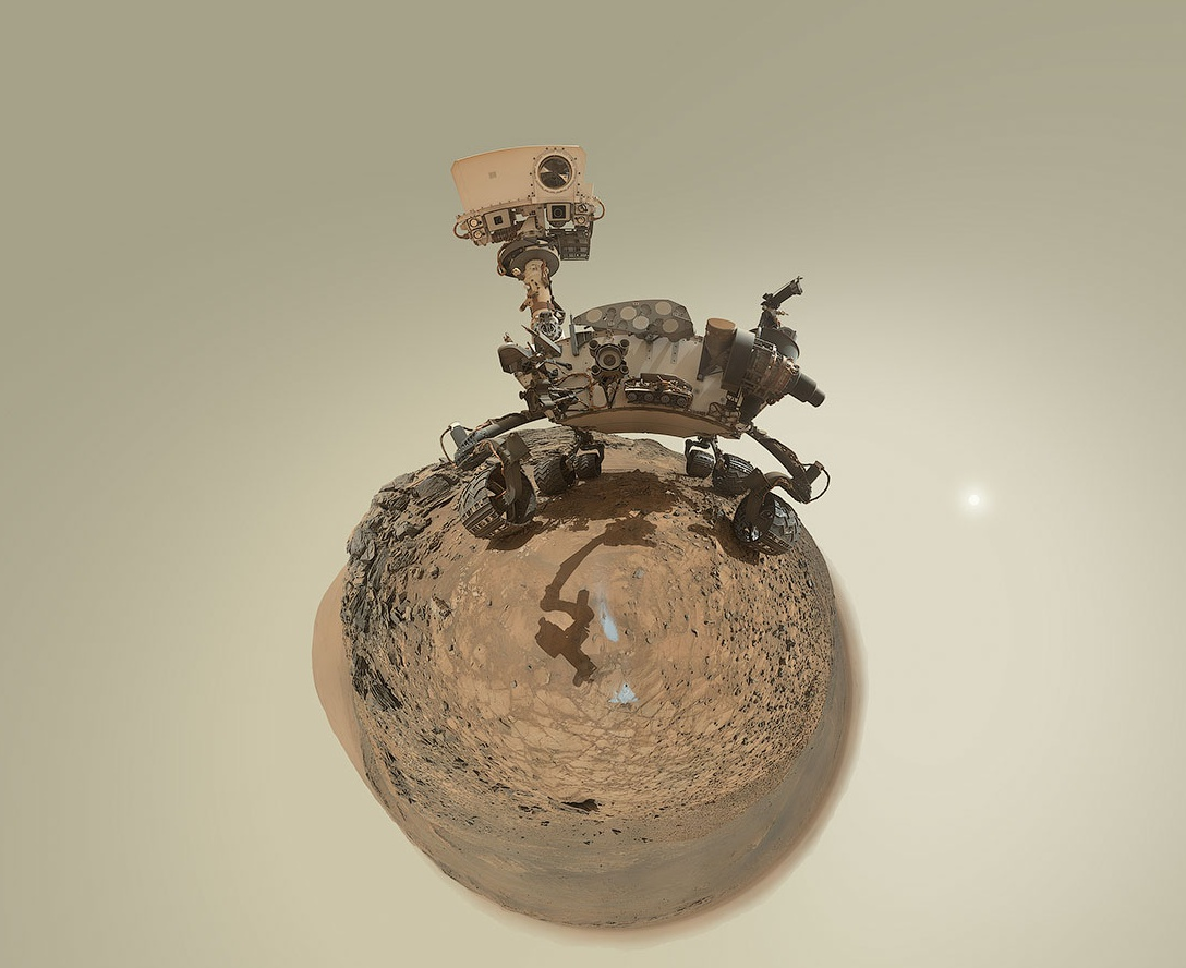 MSL - Curiosity - Mars Science Laboratory - Little Planet - Anniversaire - Andrew Bodrov - 5 août 2015 (sol 1065) -  Marias Pass - MAHLI - JPL - NASA
