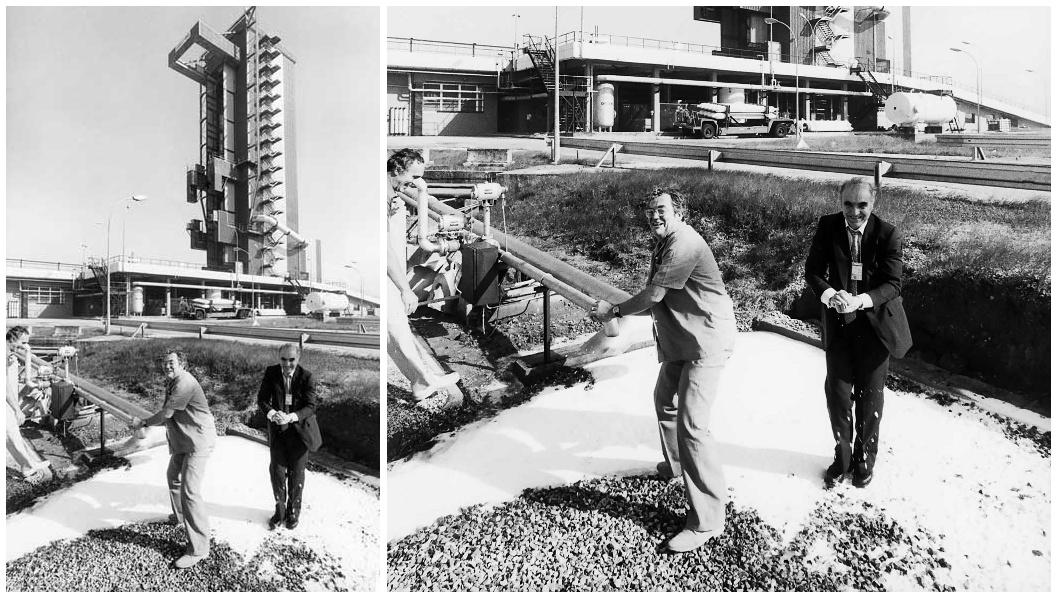 Ariane - Premier Lancement - Hubert Curien - Neige en Guyane - Boules de neige - cryotechnique - décembre 1979 - CNES