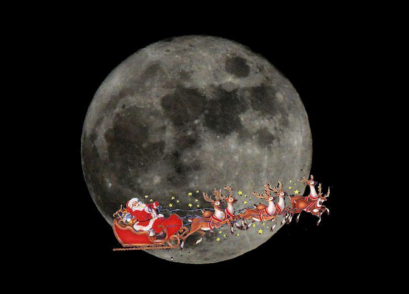 Pleine Lune - Noël - 25 décembre 2015 - Val d'Azun - Entre Aucun et Arrens-Marsous - Hautes-Pyrénées