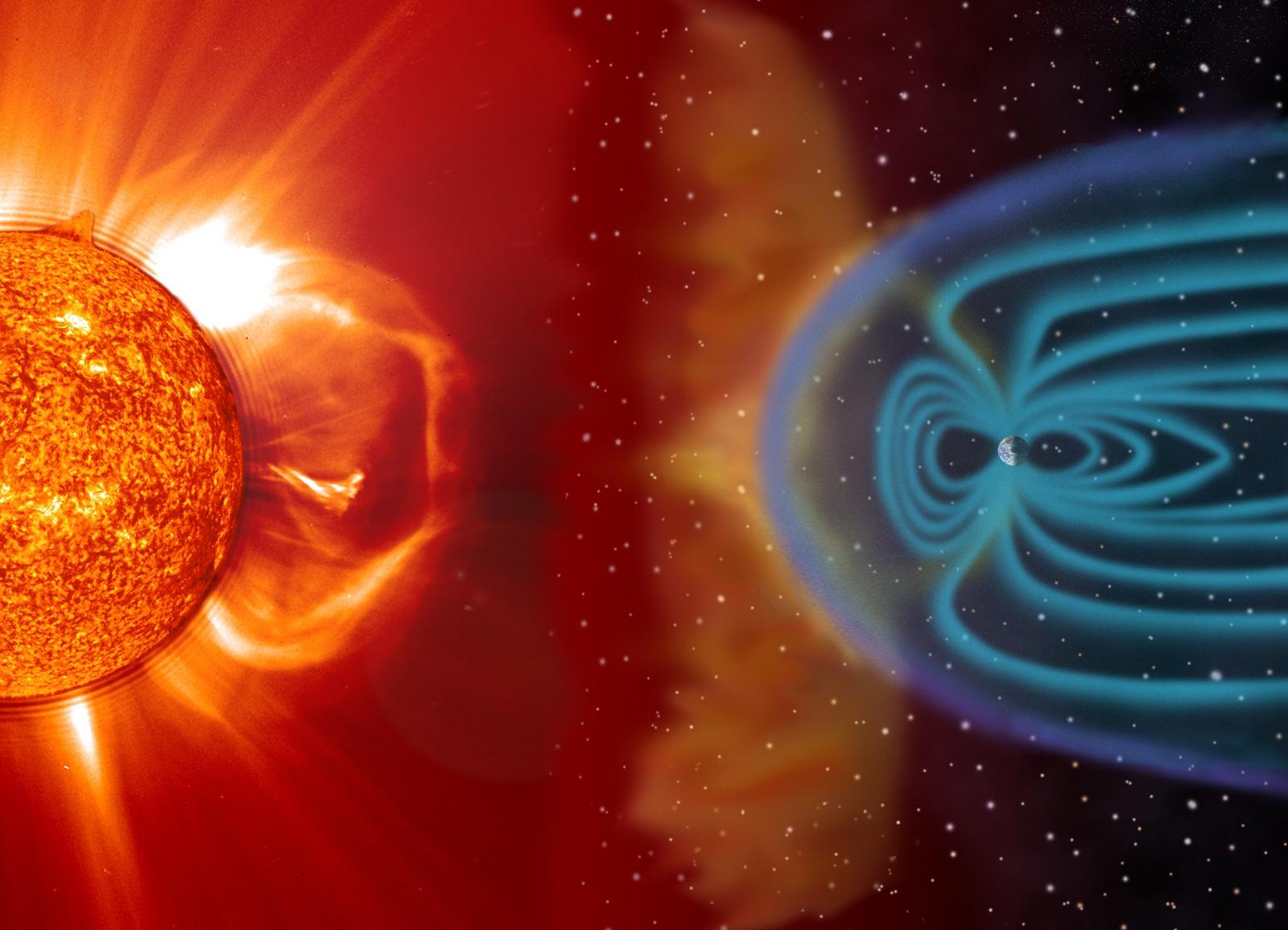 Soleil - Activité solaire - CME - Coronal Mass Ejection - Magnétosphère - Ionosphère - Aurores polaires - SOHO - NASA - Space weather - Solar storm