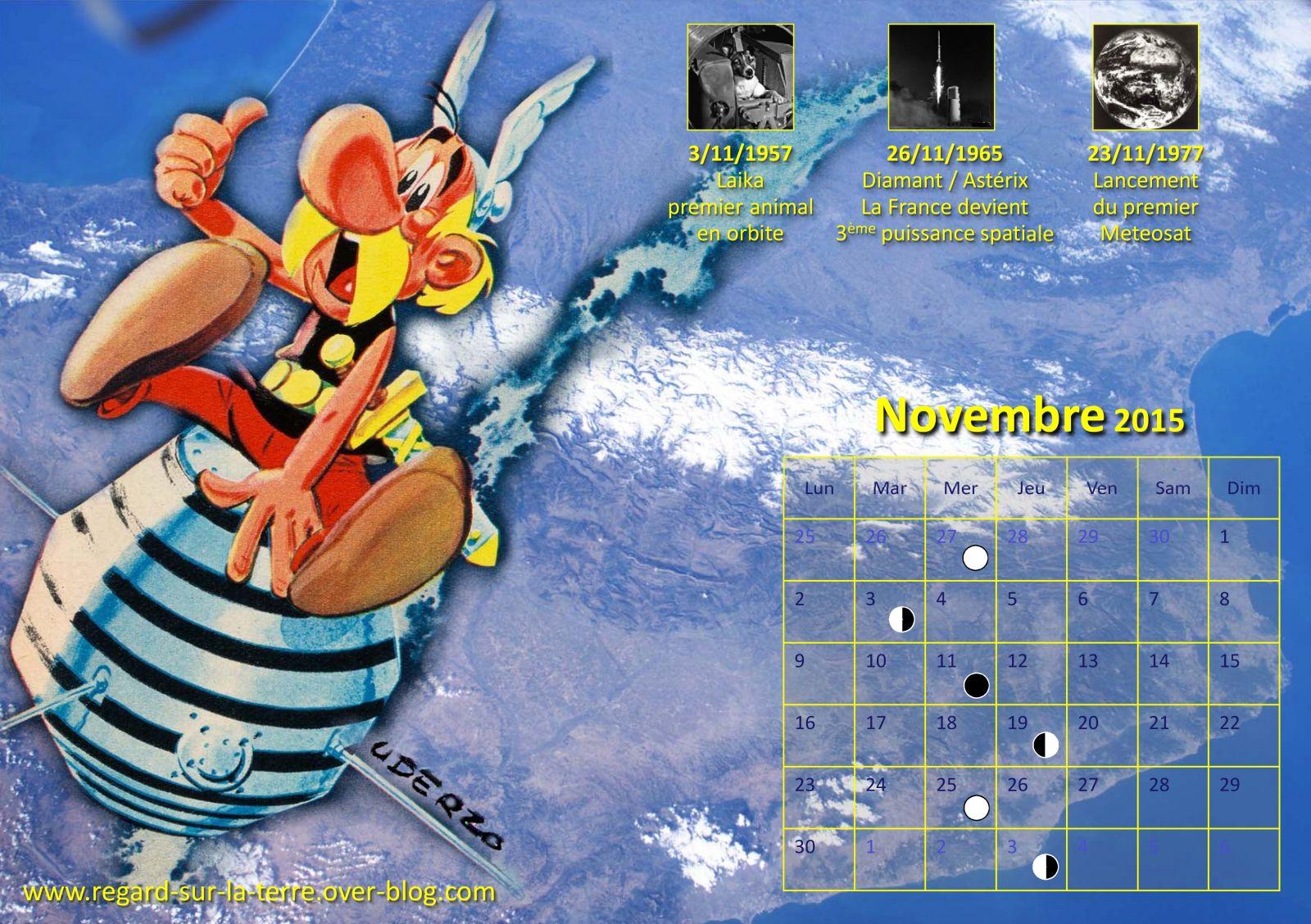 Astérix - A1 - Diamant - Premier satellite français - 26 novembre 1965 - 50 ans - calendrier spatial et astronomique - Laika - Meteosat-1