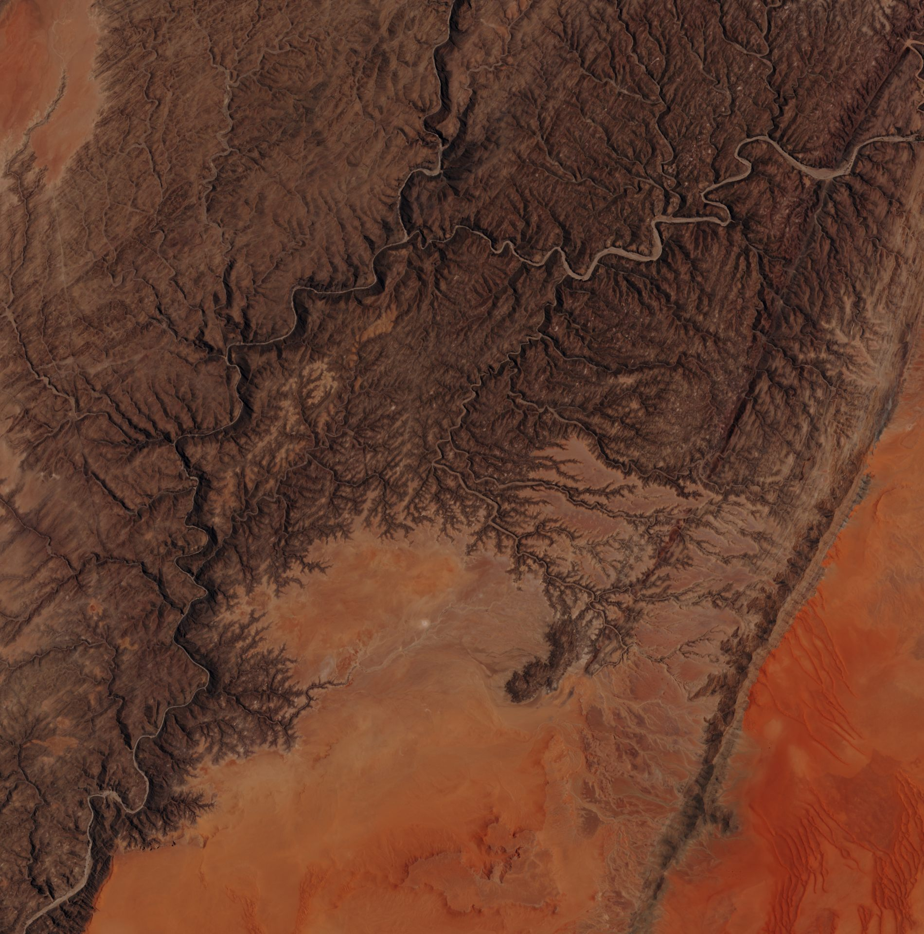 Sentinel-2A - Namibie - satellite - désert - dunes - 26 janvier 2016 - ESA - Copernicus