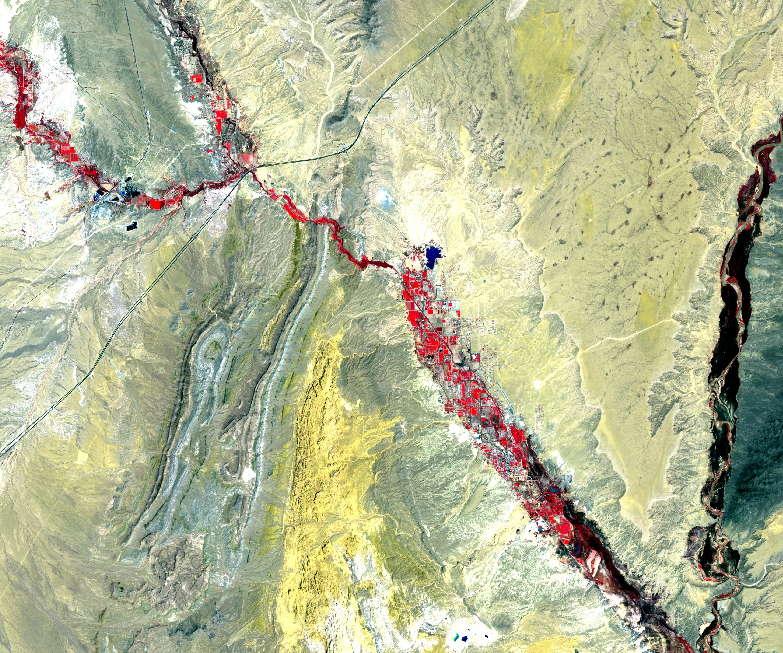 Sentinel-2 - Copernicus - ESA - satellite - Moapa Valley - Muddy river - Juillet 2016
