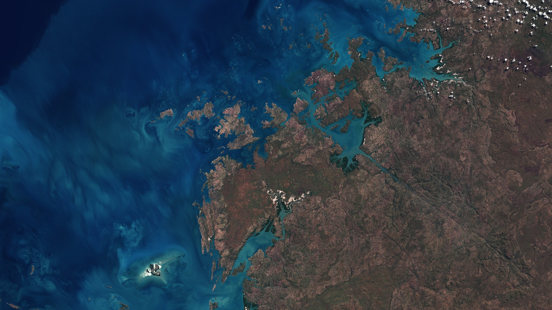 Calendrier spatial - Juin 2016 - Sentinel-2 - ESA - Copernicus - Australie - Kimberley - Derby - Prince Regent Reserve - UNESCO - Archipel Bonaparte - Augustus Island - Wurroolgu