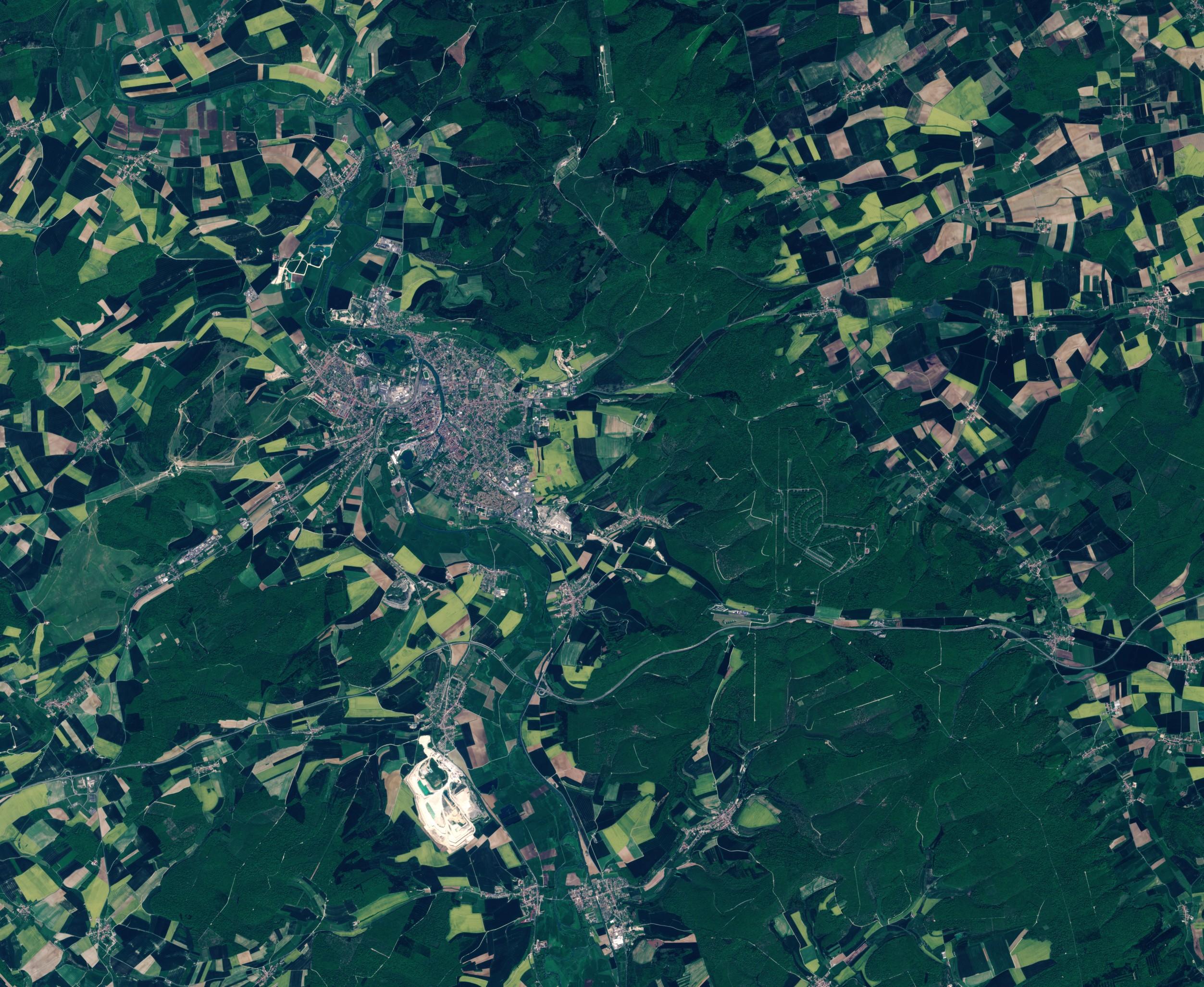 Verdun - Forêt de Verdun - Bataille de Verdun - Zone rouge - Centenaire - Douaumont - satellite Sentinel-2 - ESA - Mai 2016