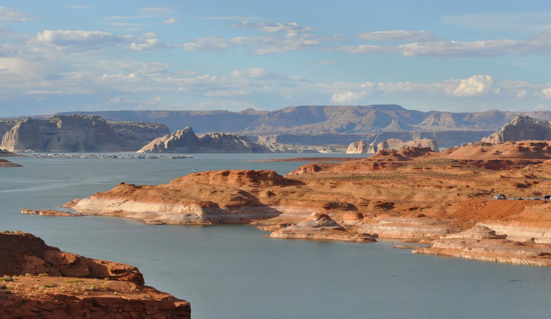 Lac Powell - Barrage de Glen Canyon - Colorado - Gédéon - Un autre regard sur la Terre - Marque de la baignoire