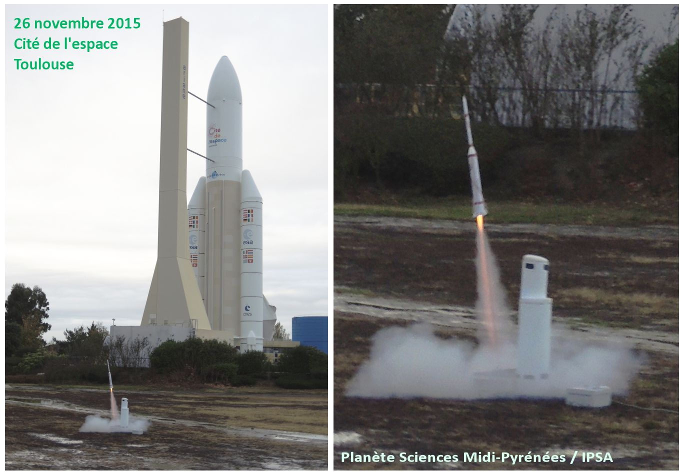 Astérix - A1 - Diamant - Armées n°1 - Toulouse - 26 novembre - Anniversaire - 26-11-1965 - Hammaguir - SEREB - CNES - DMA - Planète Sciences Midi-Pyrénées - IPSA