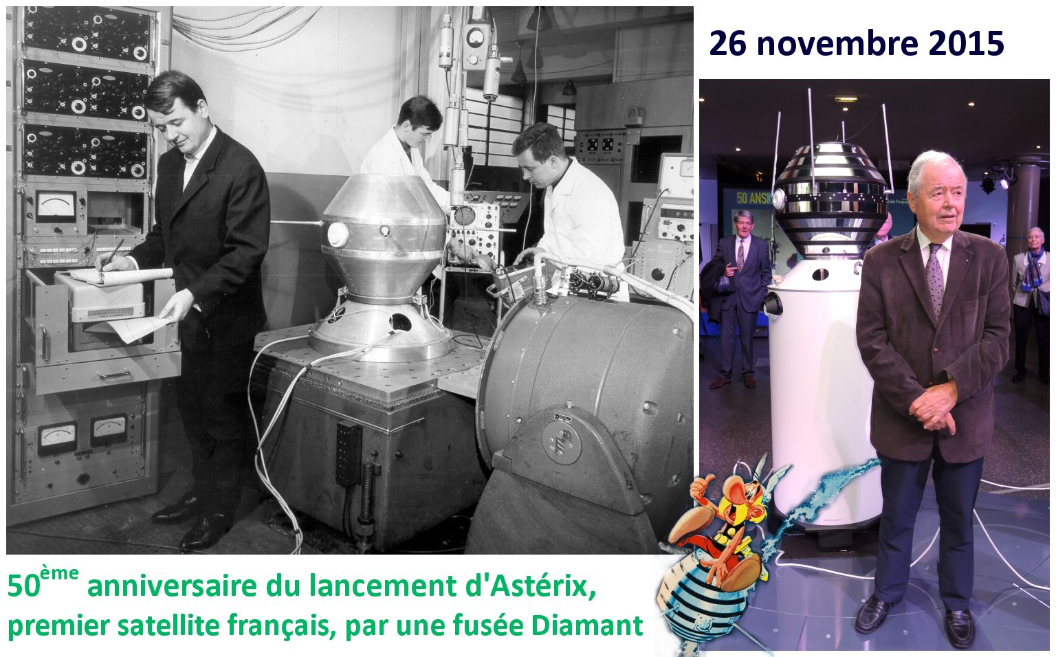 Astérix - A1 - Diamant-A - Intégration - Anniversaire - George Estibal - Matra