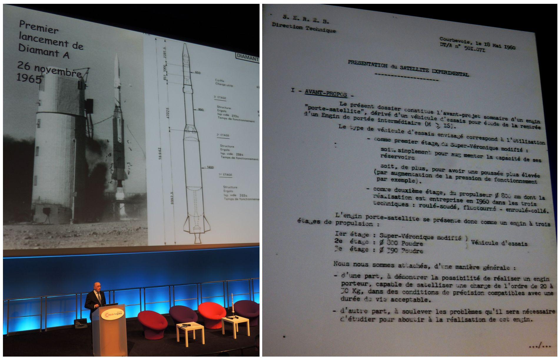 Diamant - Astérix - 50 ans - Conférence Philippe Couillard - Jacques Villain - Cité de l'espace - Toulouse - 26 novembre 2015