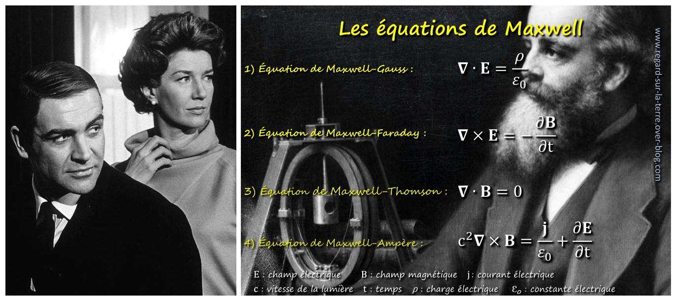 Lois Maxwell - Moneypenny - James Bond - équations de Maxwell - 007