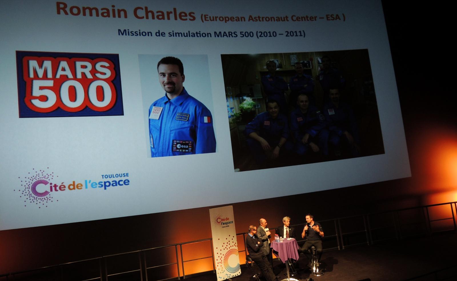Cité de l'espace - Romain Charles - Mars 500 - Seul sur Mars