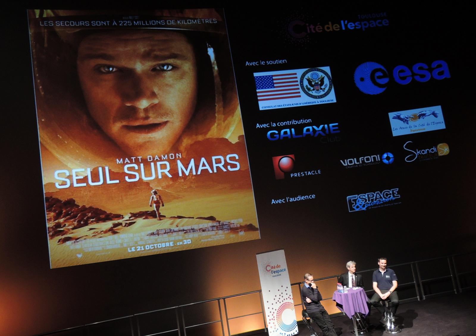 Seul sur Mars - Ridley Scott - Matt Damon - Jessica Chastain - Avant-première - Cité de l'espace - 3D - Imax - Toulouse
