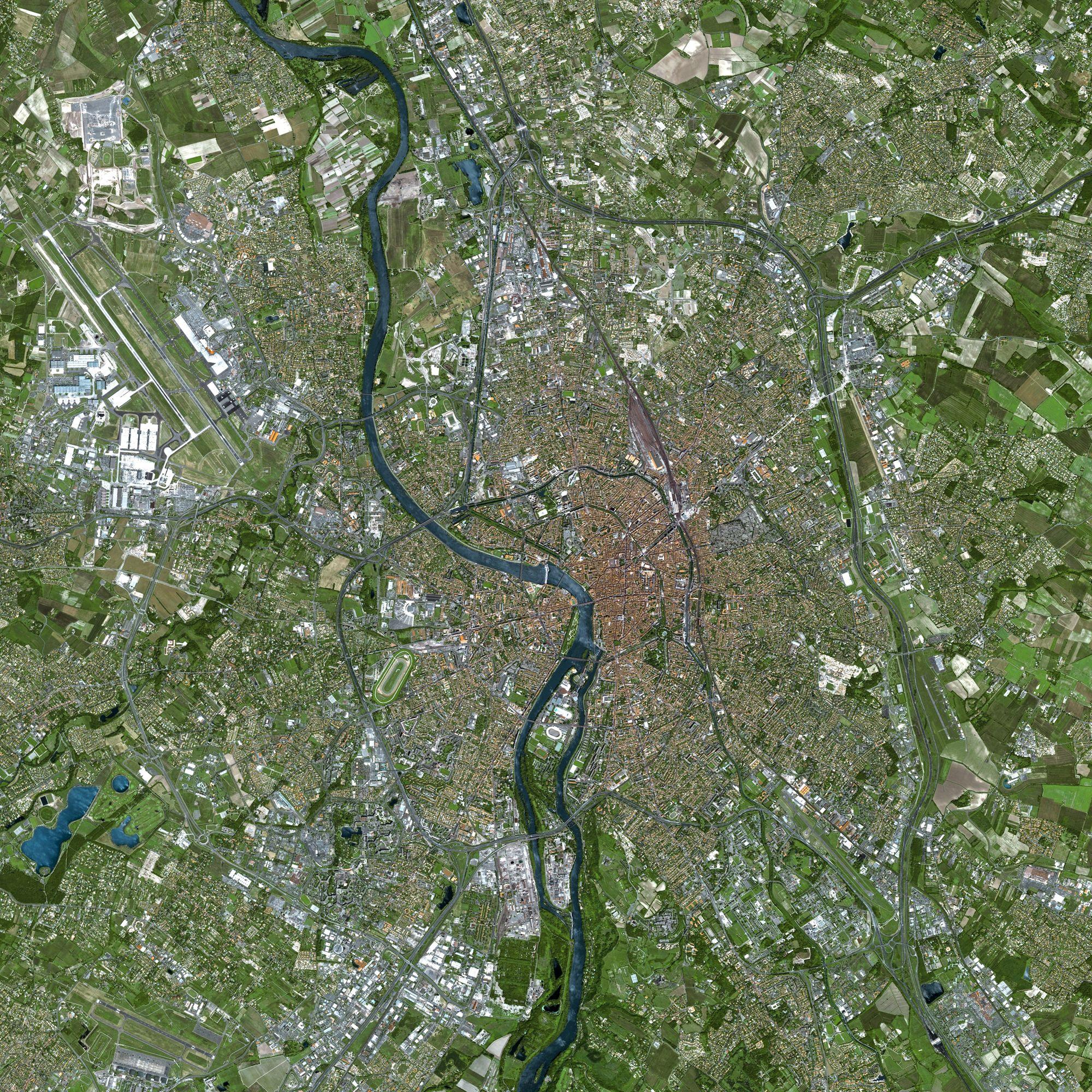 Spot - Satellite pour occuper Toulouse - Toulouse - Spot 5 - CNES - Matra - Airbus - Spot Image - CESBIO