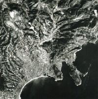 SPOT 1 - Première image - Nice - 23 février 1986 - satellite - CNES - Spot Image - Airbus - KJ
