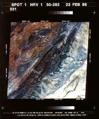 SPOT 1 - Première image - Djebel amour - image multispectrale - 23 févreir 1986 - CNES - Spot Image - Airbus DS
