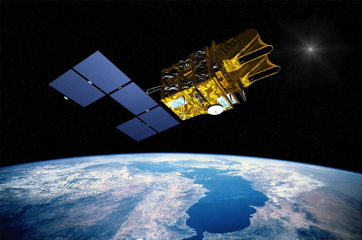 SPOT 1 - 30 ans - anniversaire - 1986-2016 - 22 février - SPOT 1 en orbite - Vue d'artiste - CNES - Matra - Spot Image