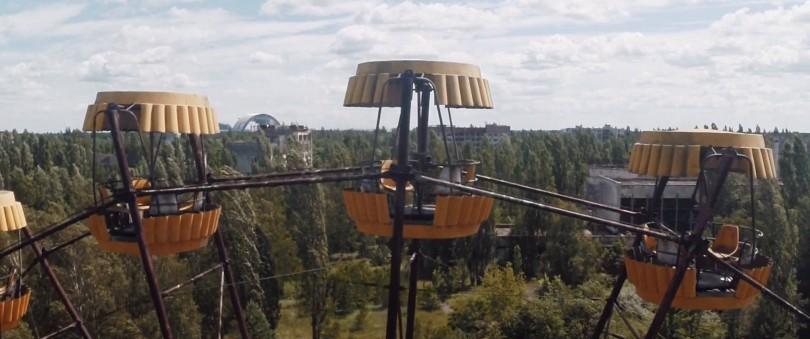 Tchernobyl - Pripyat - Manège - Arche de confinement - Drone - Danny Cooke - Regardsurlemonde