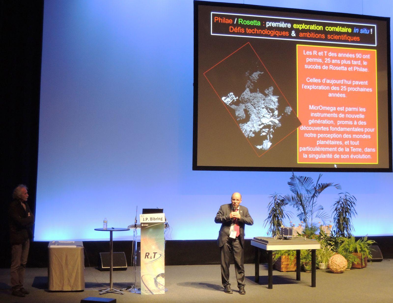 CNES - Journées R et T - Marc Pircher - Jean-Pierre Bibring - R&T et préparation du futur - Conférence Philae Rosetta - IAS