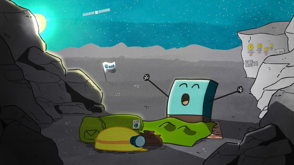 Le réveil de Philae - Philae is awake - Philae est vivant - ESA - Rosetta - CNES - Comète 67P
