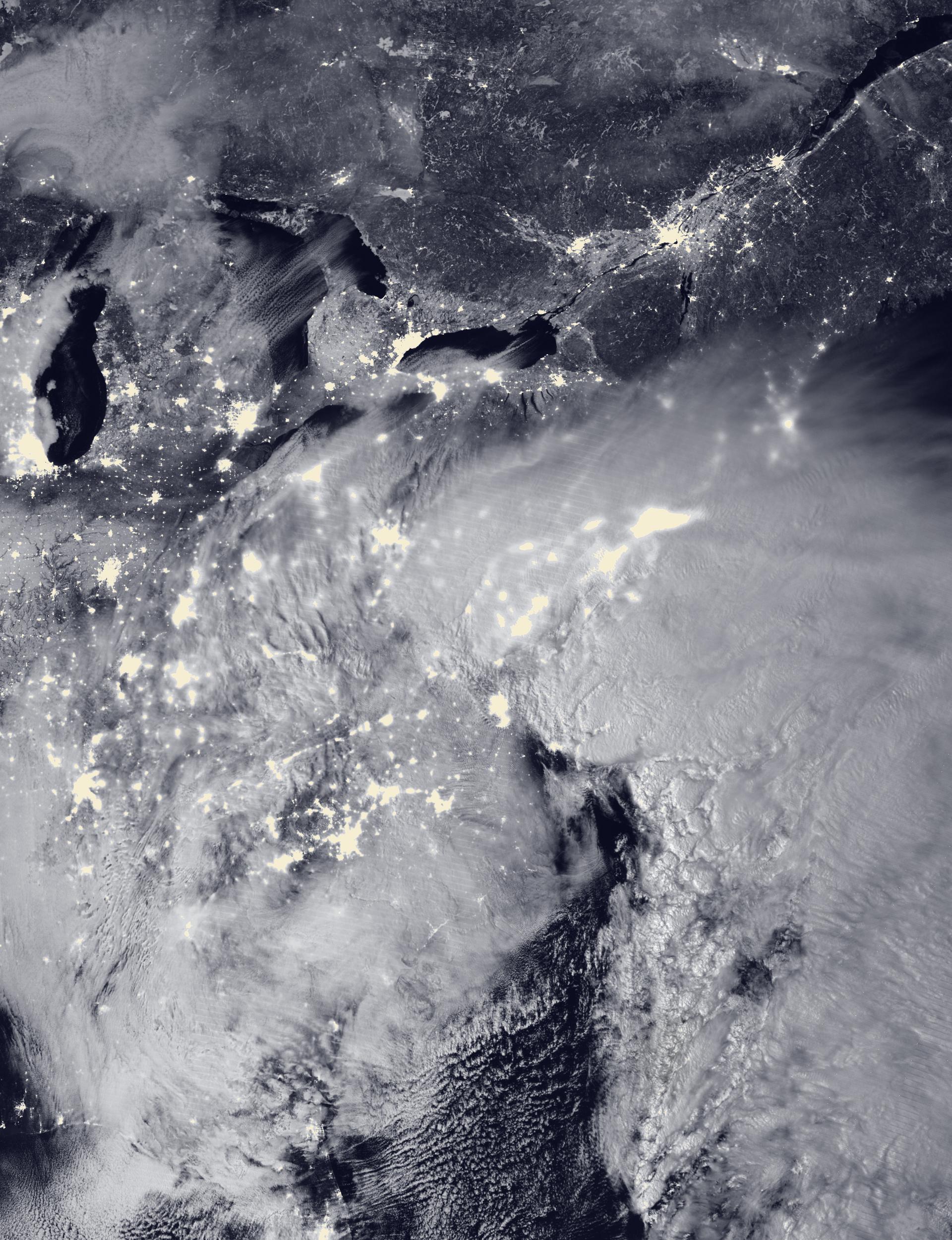 Snowzilla - Tempête Jonas - Neige - New York - Washington - Côte est - Suomi NPP - VIIRS - 23 janvier 2016 - NASA