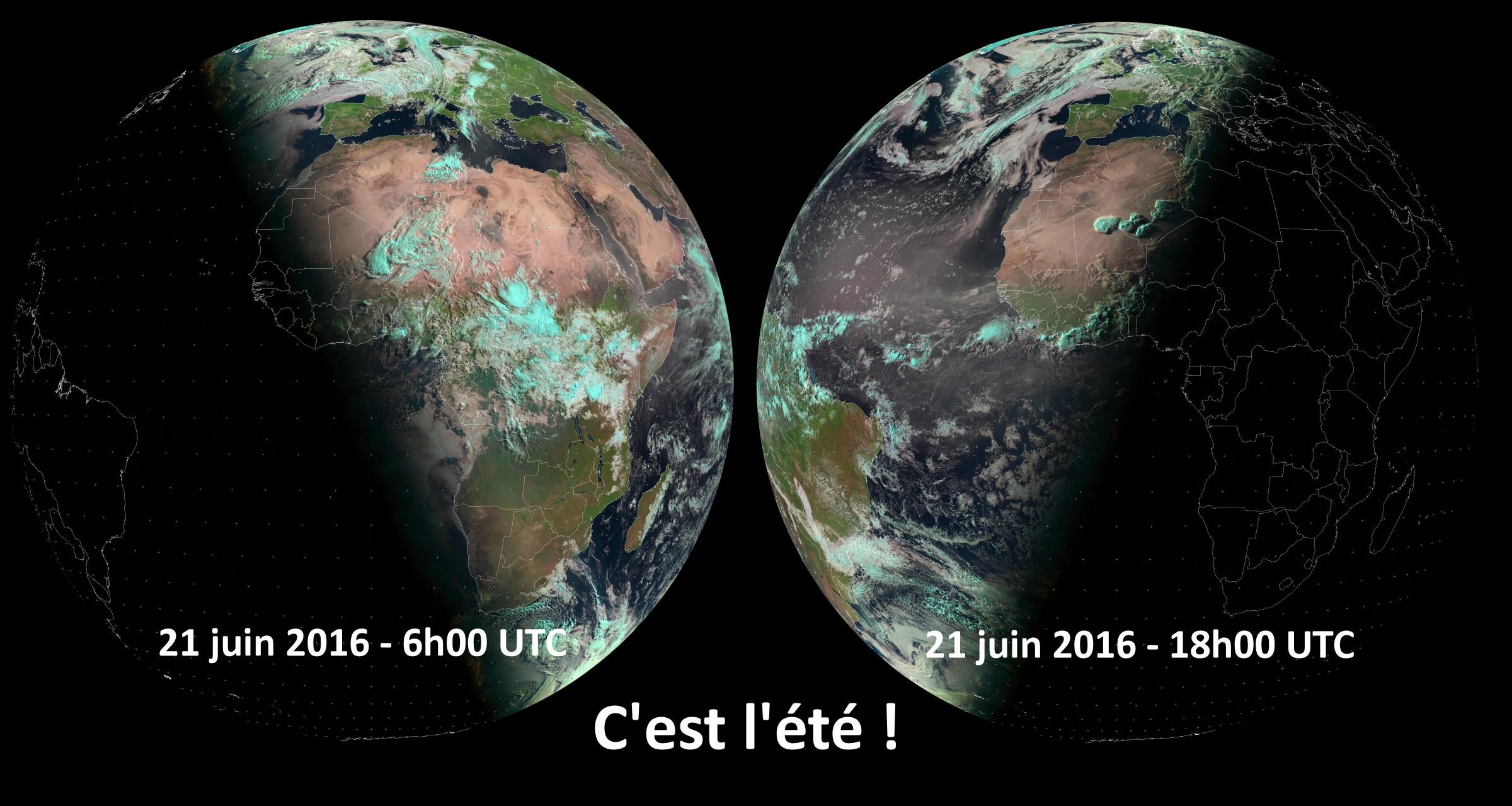 C'est l'été - Solstice d'été - 2016 - 21 juin - Météosat - Enfin l'été - Saison - été arrosé - Eumetsat