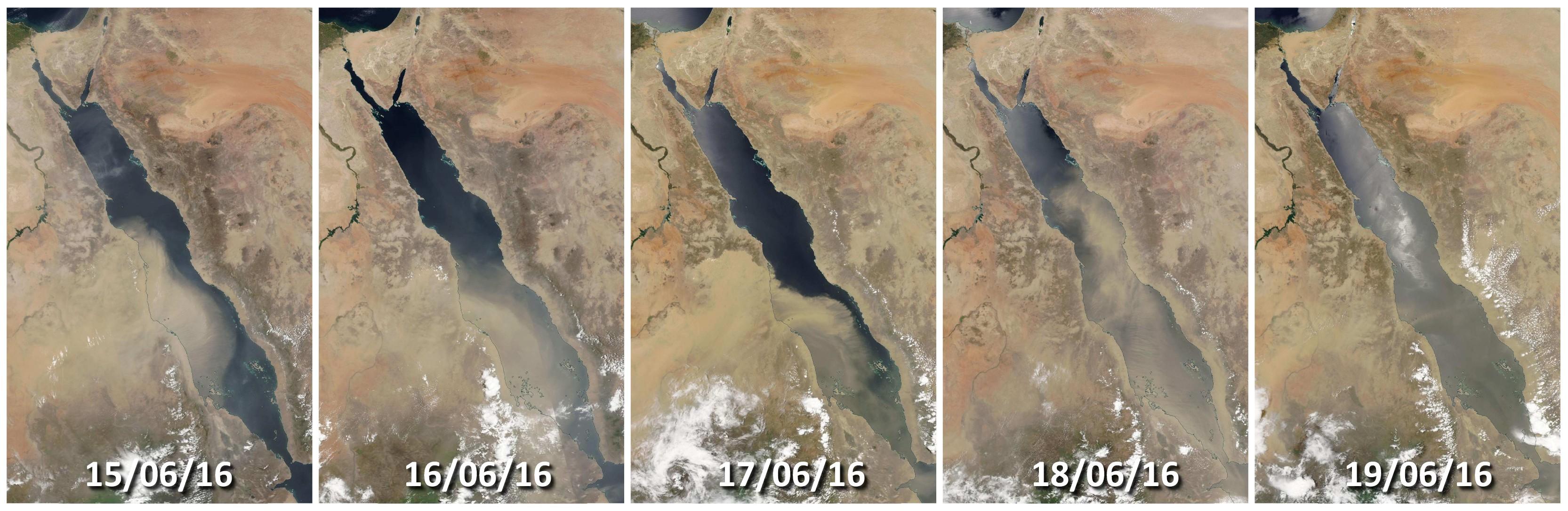 Suomi NPP - Tempête de sable - Nuages de sable - Mer rouge - Sand - Egypte - NASA - Marchand de sable
