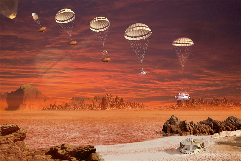 Huygens - ESA - Atterrissage Titan - Descente parachute - Cassini - NASA - 15 octobre 1997