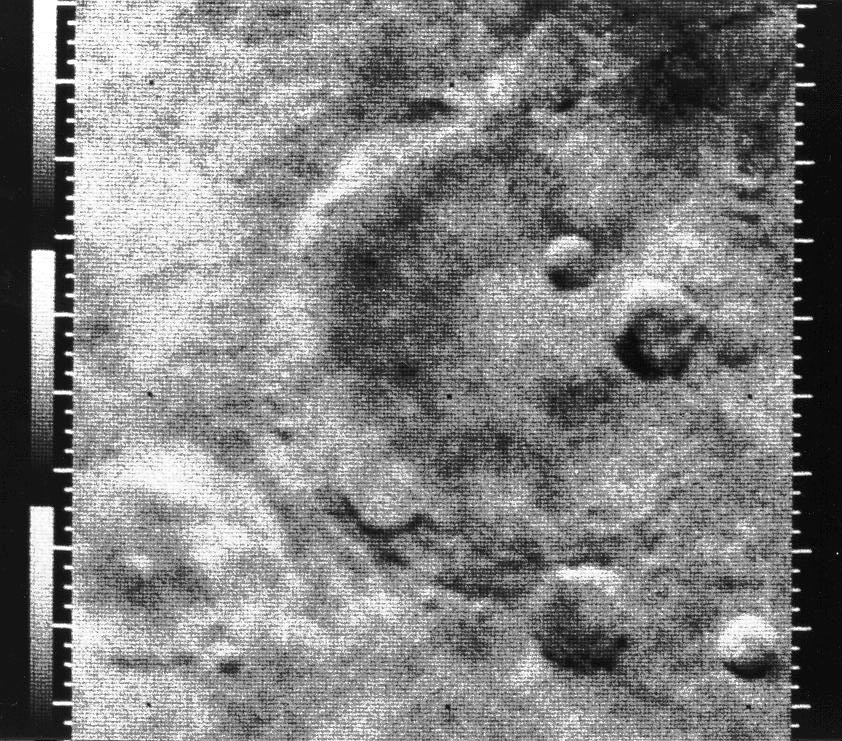 Mariner-4 - Survol Mars - Photographie surface Mars - Novembre 1964 - NASA - JPL