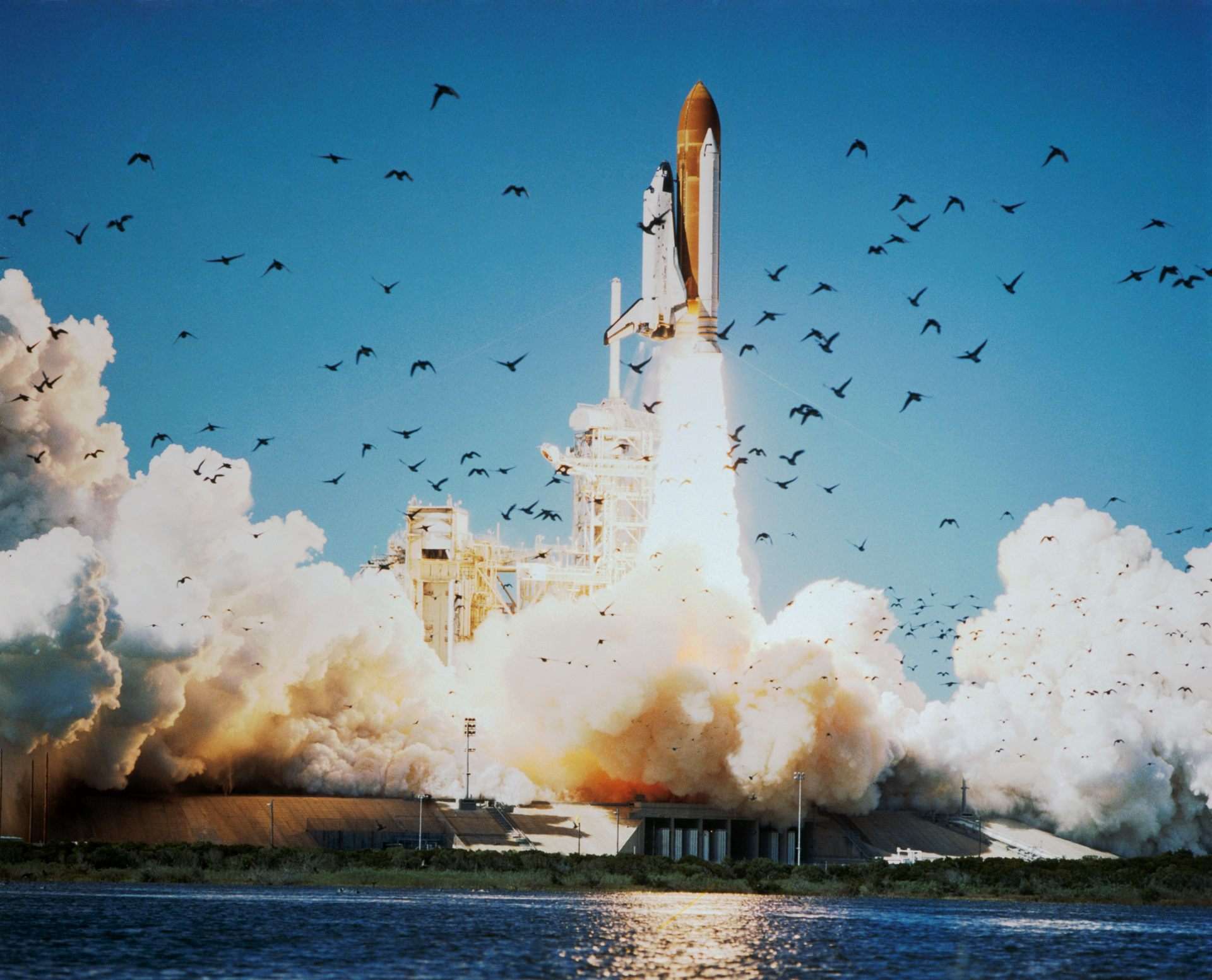 Décollage de la navette Challenger - Kennedy Space Center - 28 janvier 1986 - NASA - STS-51L