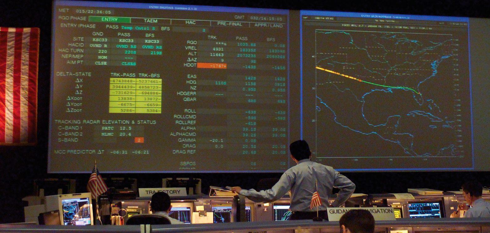 Suivi de la rentrée de Columbia depuis le Centre de contrôle de mission - NASA