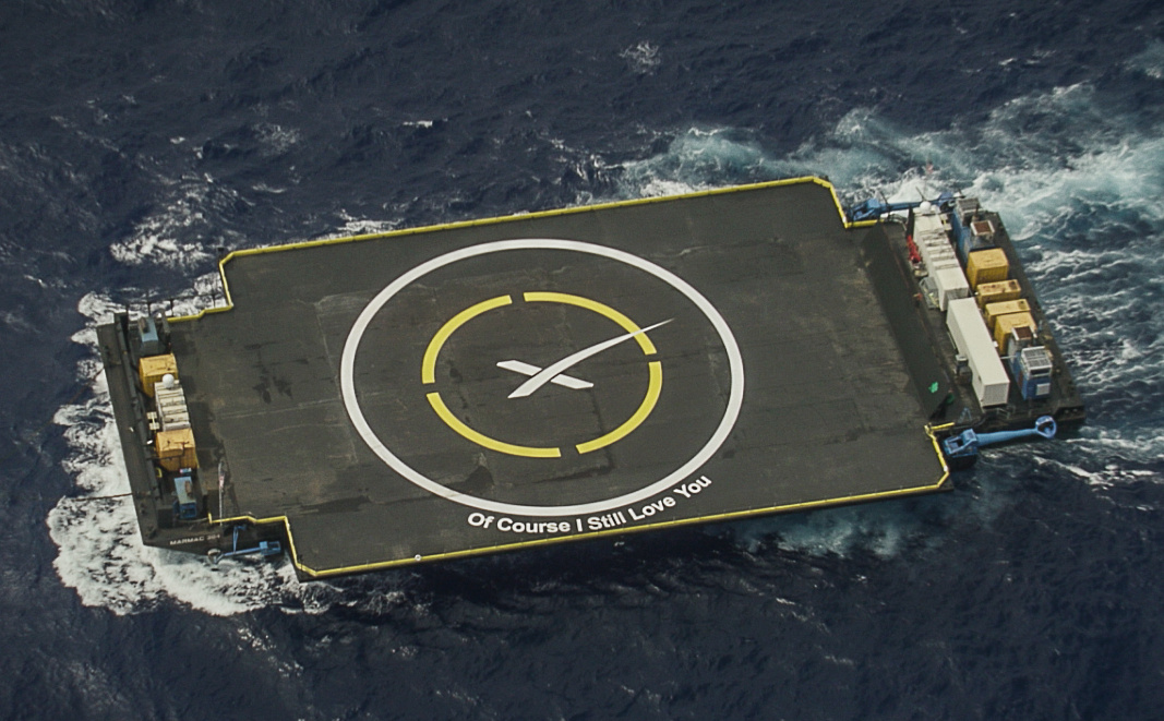 SpaceX - barge - Landing - First stage - Of course I still love you - Falcon 9 - Drone ship