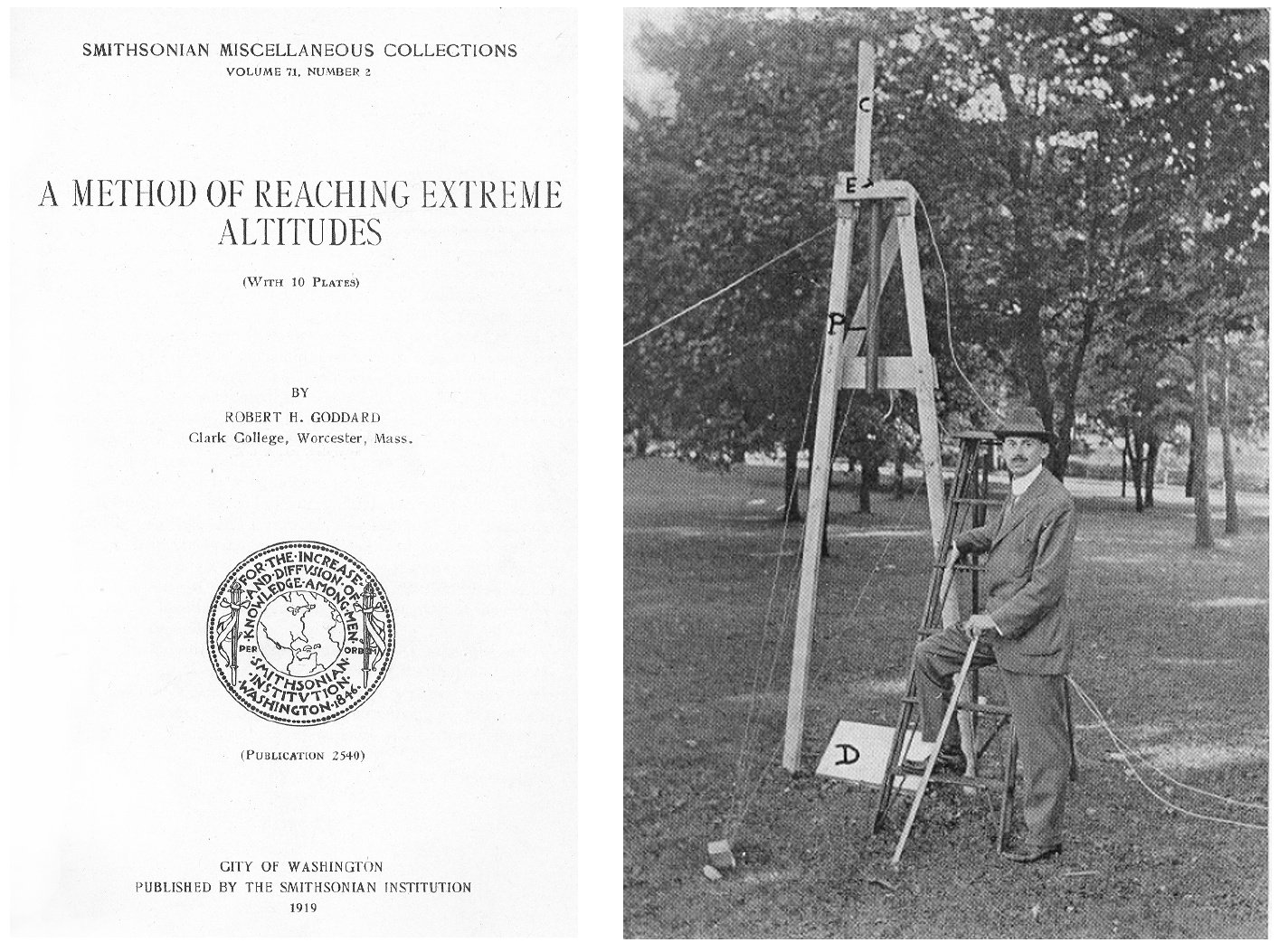 Robert Goddard - A method of Reaching Extreme Altitudes - Smithsonian - Conquête spatiale - 1919