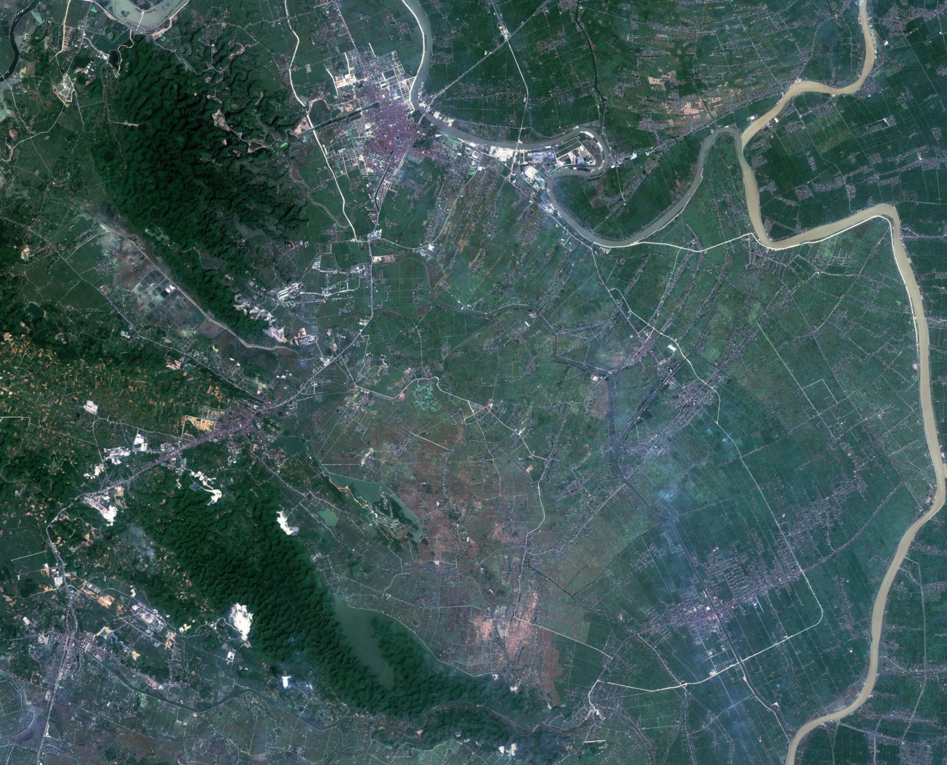 Un autre regard sur la Terre - Quiz image satellite et environnement - Image mystère - Observation de la Terre - quizz - satellite d'observation
