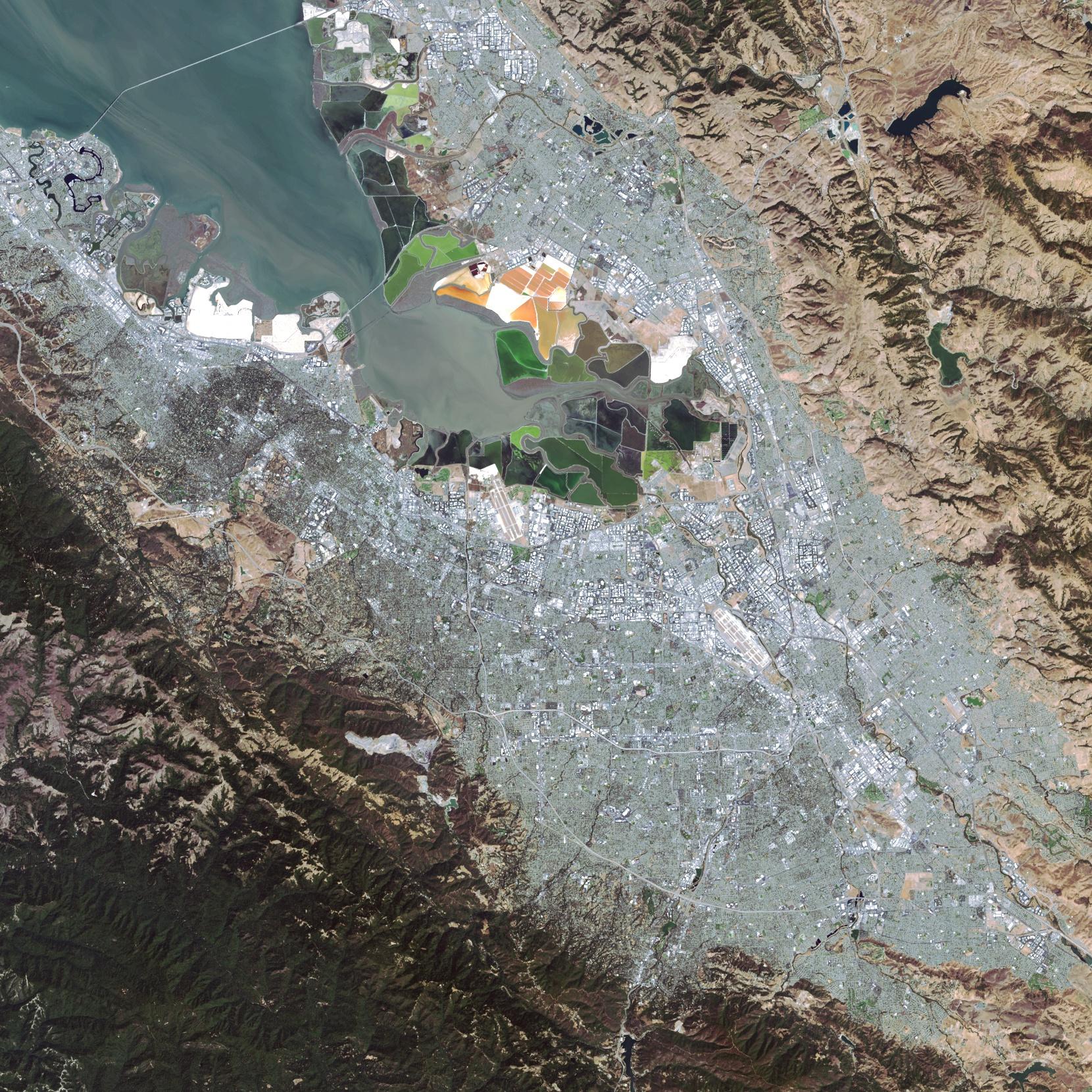 Landsat 8 - Comparaison Sentinel 2 - Satellite - Premières images - ESA - USGS - Copernicus - San Francisco - Silicon Valley