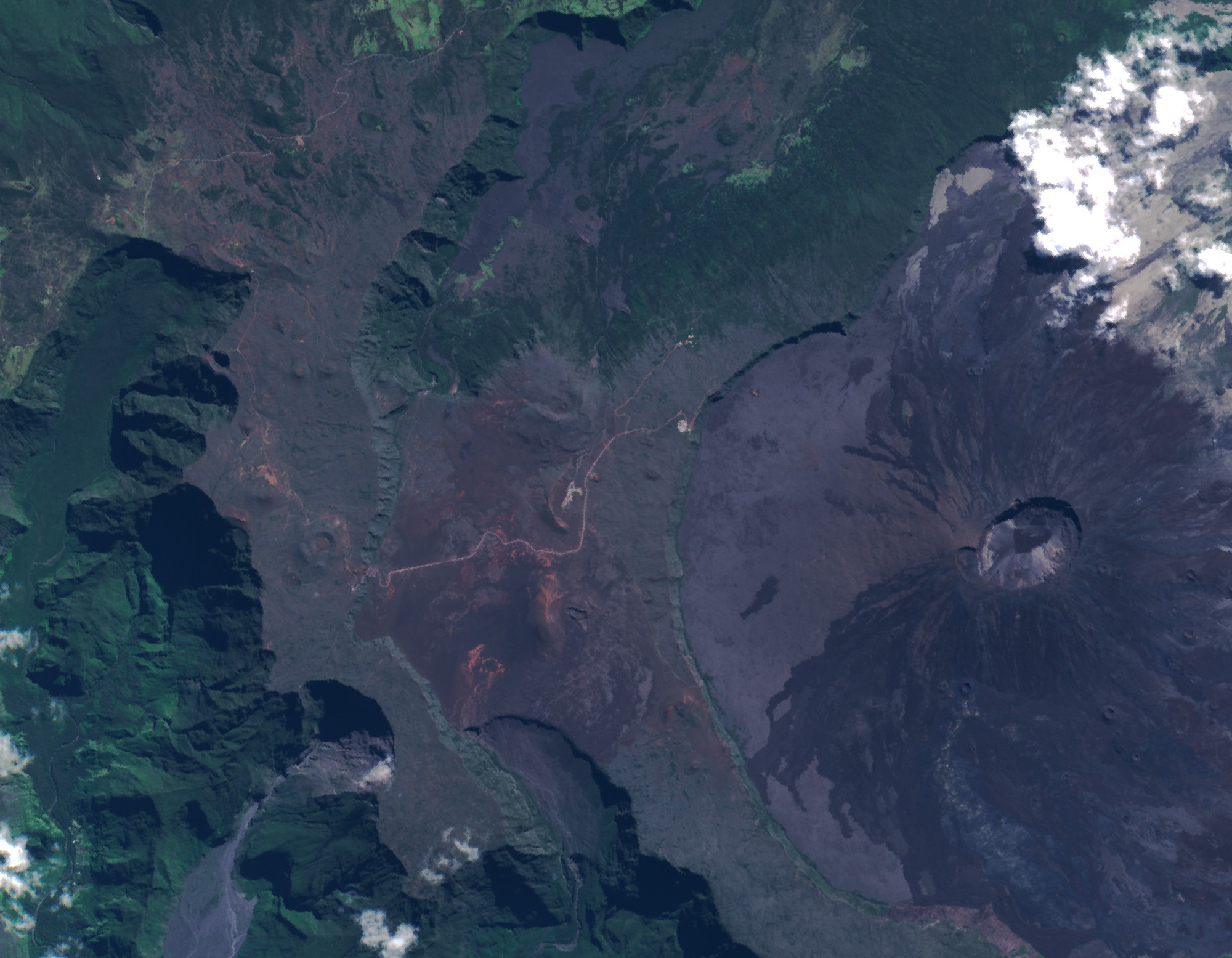 île de la Réunion - Satellite Sentinel-2A - Copernicus - ESA - Commission européenne - Piton de la fournaise