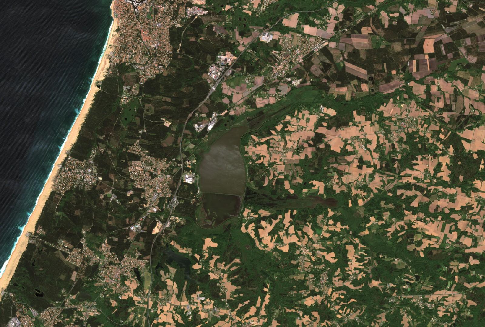 Un autre regard sur la Terre - Satellite et environnement - Observation de la Terre - Earth Observation - Sentinel-2 - ESA - Quiz image - Un indice
