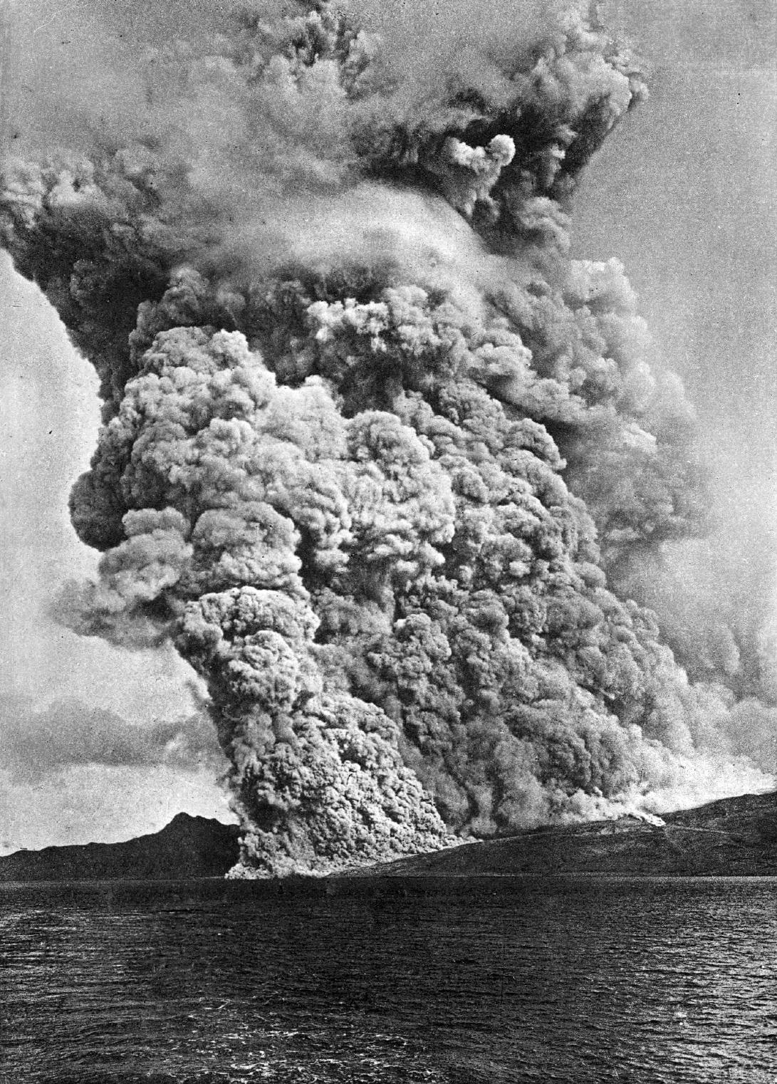 éruption volcanique - Montagne Pelée - 1902 - Martinique - Catastrophe - Antilles - Nuée ardente - Lacroix