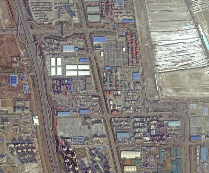Tianjin - Site - Site de l'explosion du 12 août 2015 - Site industriel - Entrepôts et habitations proches - Image satellite - Skysat - Skybox Imaging