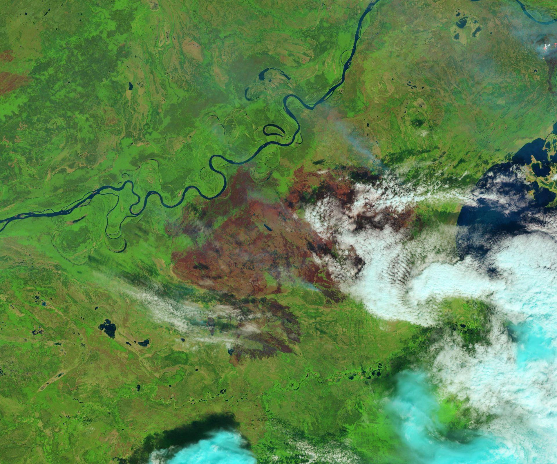 Incendies - Feux - Fire - Canada - Alberta - Saskatchewan- Landsat 8 - OLI - satellites - 26 Juin 2015 - USGS