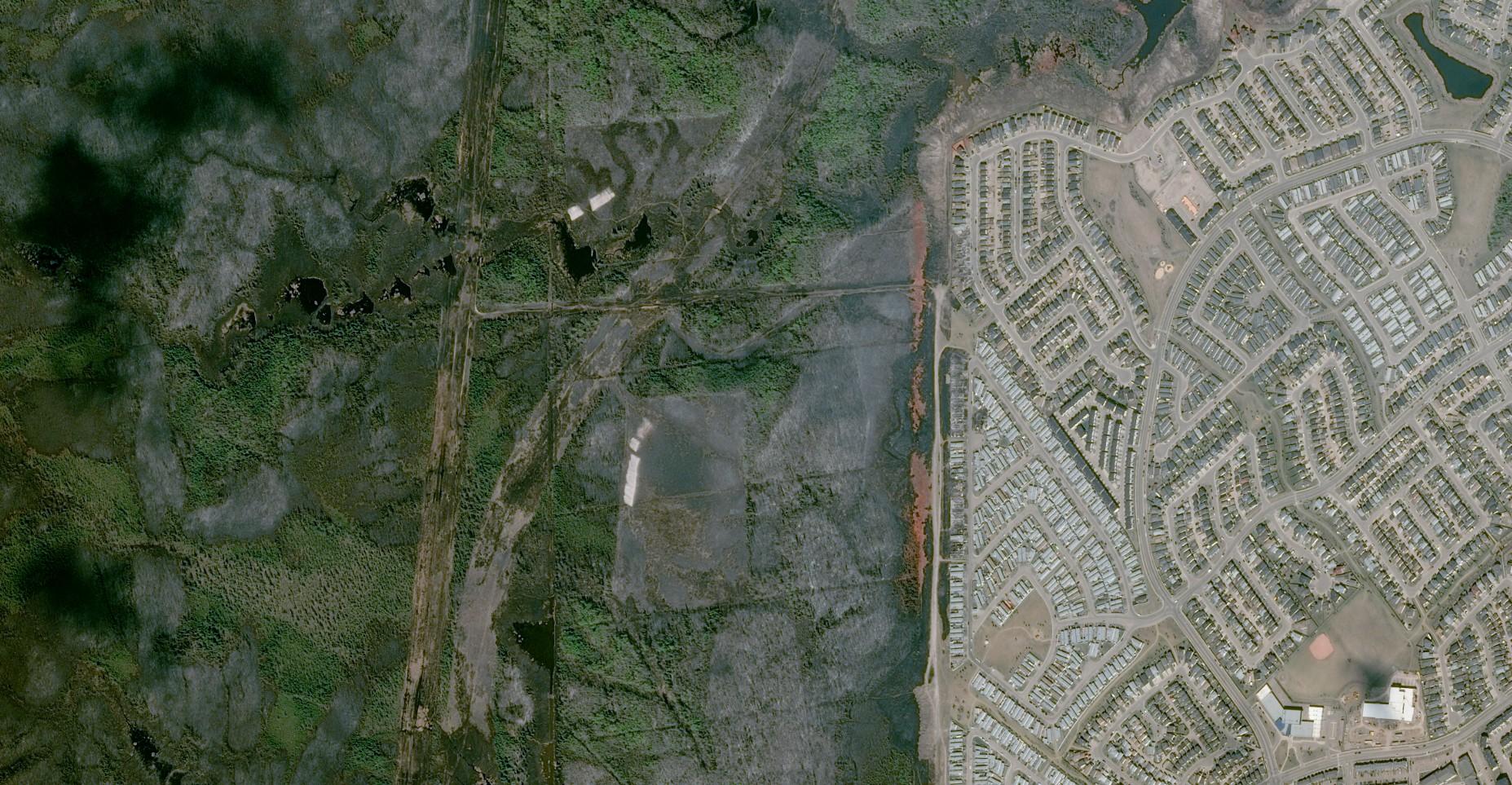 Fort McMurray - WildFires - Feux - Incendies - satellites Pléiades - Dégâts, maisons détruites et végétation brûlée
