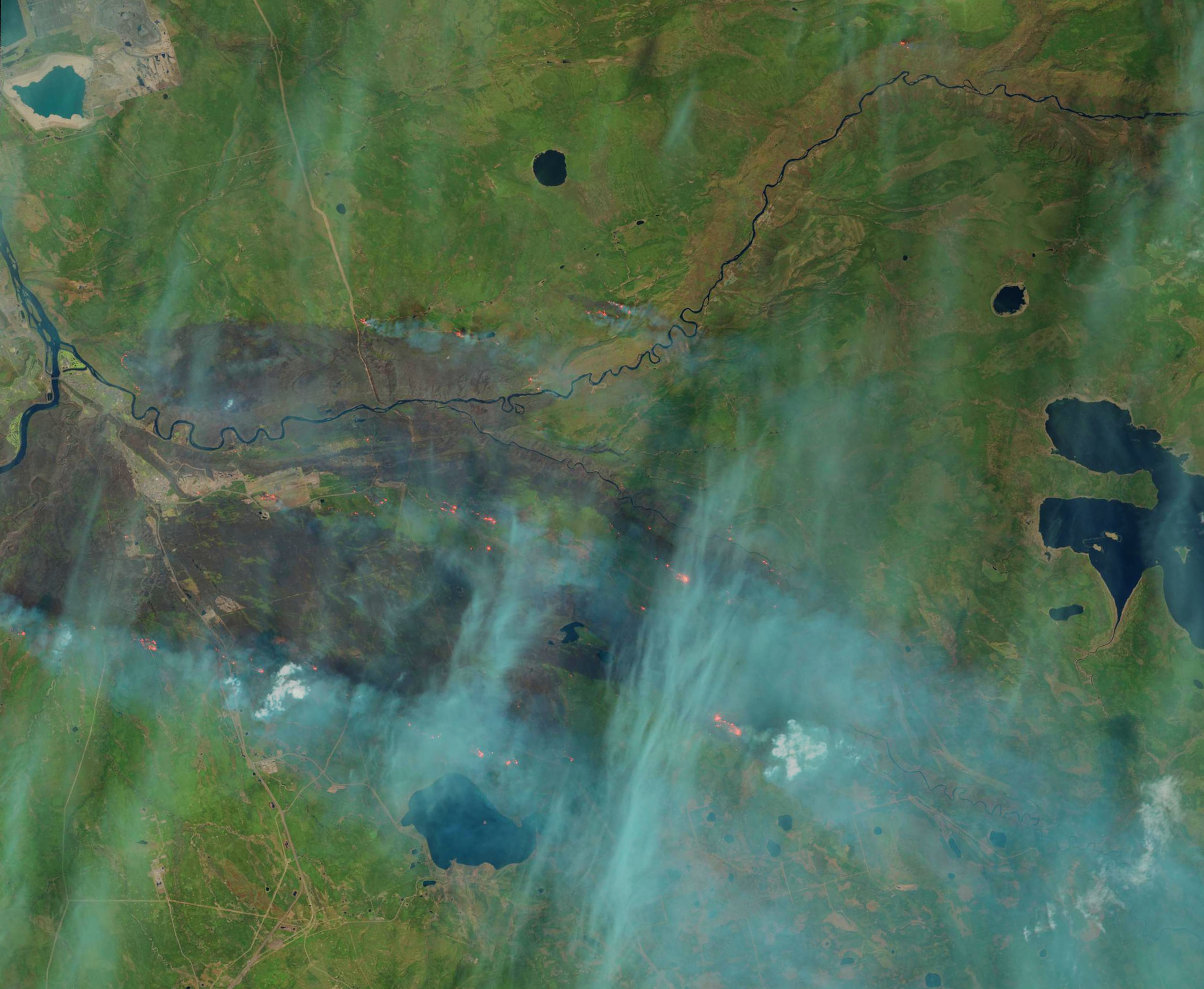 Landsat 6 - OLI - Fort Mc Murray - Alberta - Canada - Wil fires - Incendies - USGS