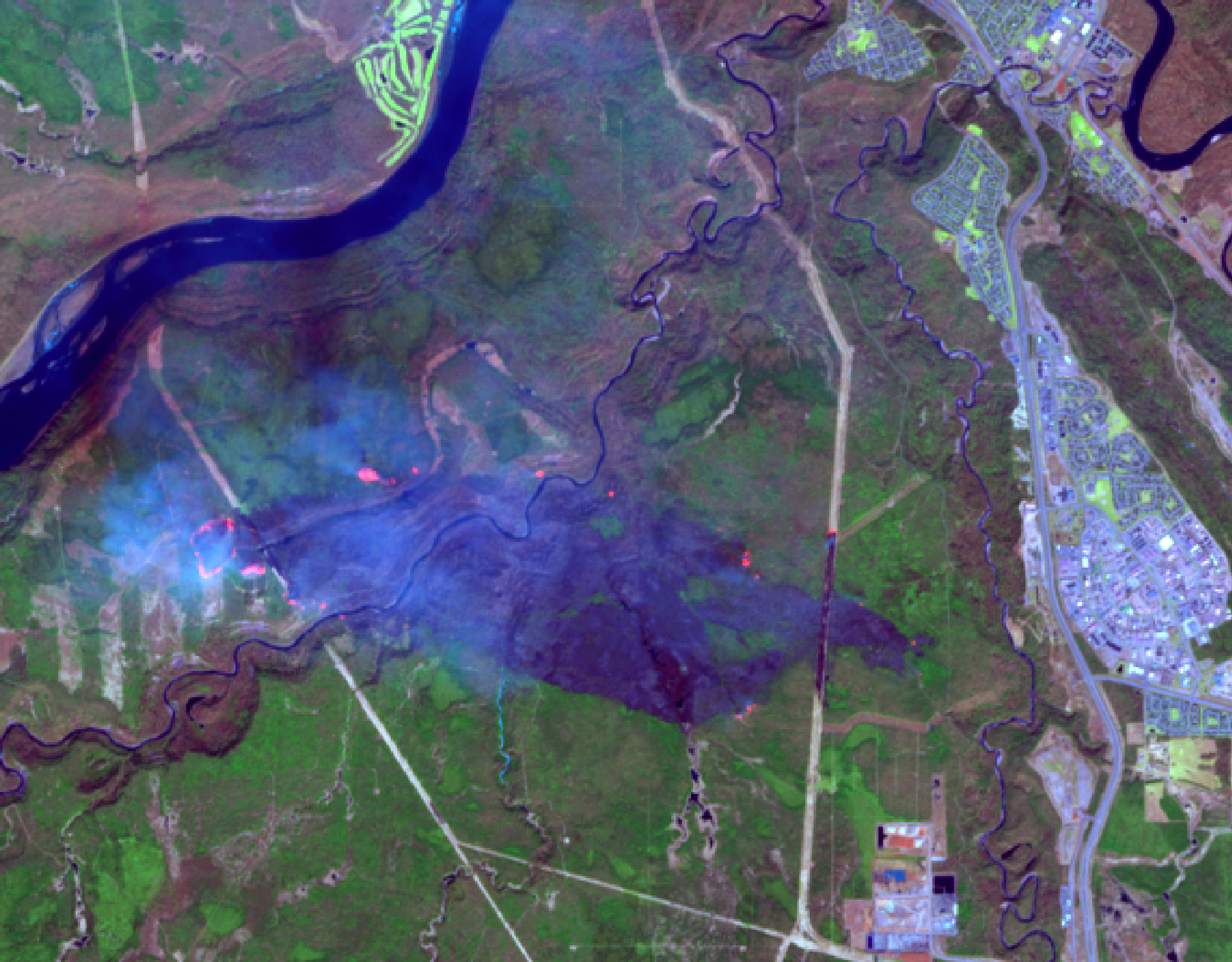 Sentinel-2A - Fort Mc Murray - Alberta - Canada - Wil fires - ESA - Copernicus - Commission européenne