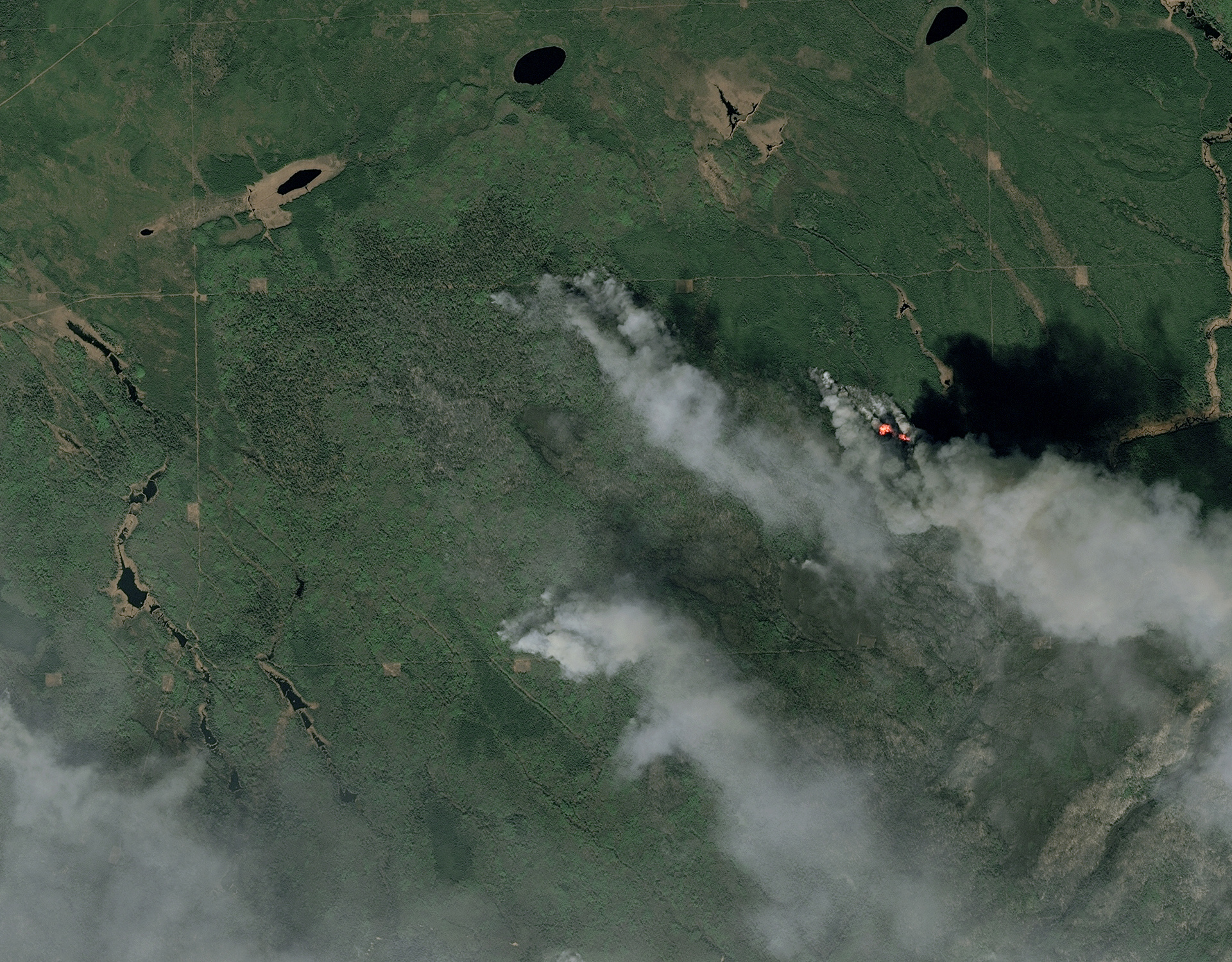 Fort Mc Murray - Alberta - Canada - Wild fires - Incendies - Feux - 6 mai 2016 - Satellite - SPOT 7 - Earth Observation - Airbus Defence and Space