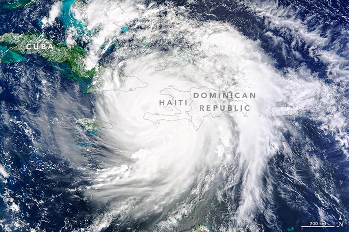 Matthew - Haïti - Haiti - Ouragan - Satellite - MODIS - Terra - Oeil du cyclone