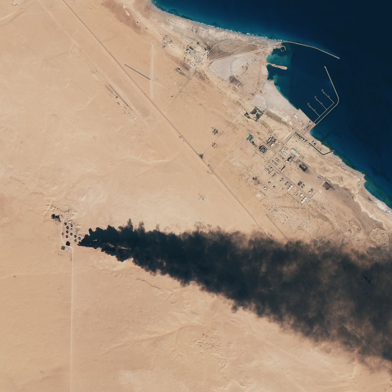 satellite Sentinel-2 - MSI - Libya - Oil tanks - ISIS - ESA - Copernicus - European Commission - EU - large