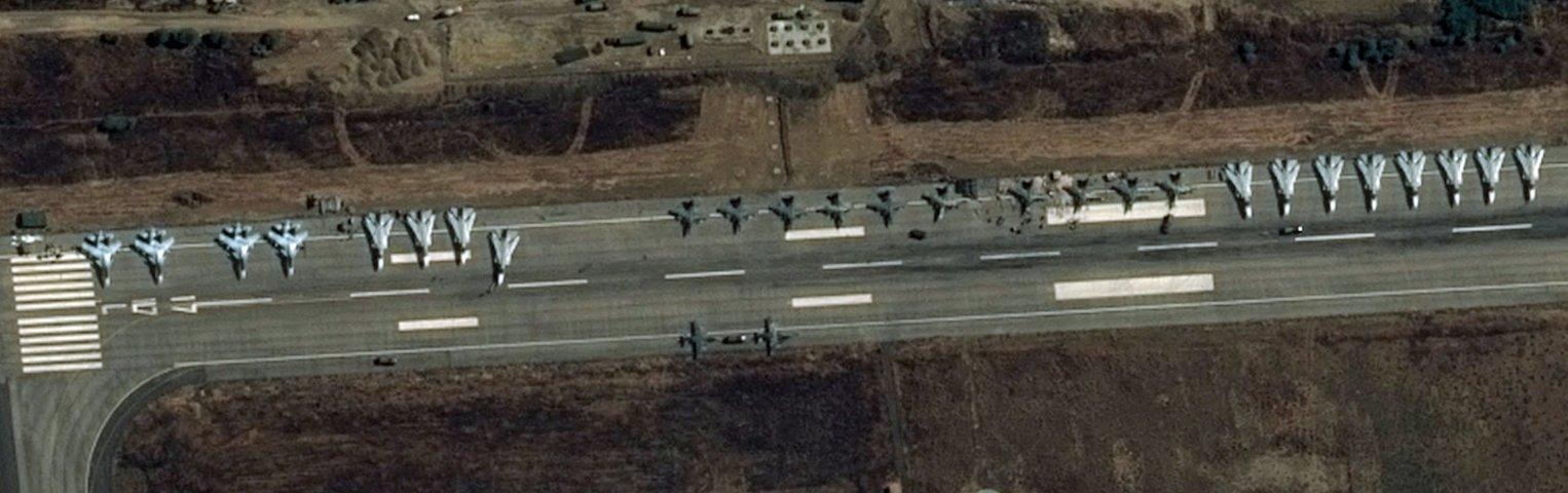 Chasseurs russes - Syrie - Sukhoi SU-30SM - SU-25SM - Frappes aériennes - Image satellite - Pléiades - Pleiades - Poutine -Turquie - Aviation russe - Obama - Hollande