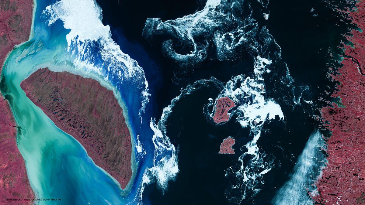 Saint-Valentin - île en forme de coeur - James Bay - Baie d'Hudson - DMC-2