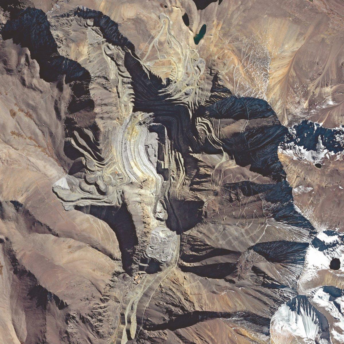 La mine de Los Pelambres au Chili vue par le satellite Formosat-2