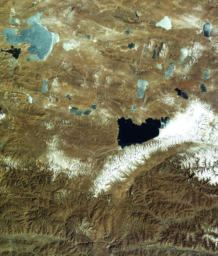 Gaofen-4 - Tibet - Namtso Lake - Observation de la Terre en orbite géostationnaire - satellite chinois - GEO